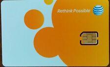 AT&T Factory Nano sim card Prepaid/Postpaid ready to activate ATT SIM