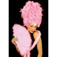 ROSA FEDERFÄCHER # Handfächer GoGo Travestie Fächer Tanzshow Kostüm Party 4717