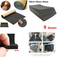9PCS 30cm×50cm Auto Van Sound Proofing Deadening Insulation 6mm Closed Cell Foam