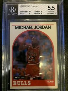 1989-90 Hoops #200 Michael Jordan Graded 5.5