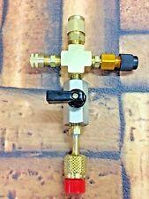"Vacuum Pump EVACUATION Manifold, 1/4FMS X 1/4MF X 3/8MF X  1/2""ACME R134A"