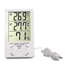 Clock LCD Digital Hygrometer Humidity Thermometer Temperature Meter Gauge SY