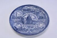 "Vintage Washington D.C. Souvenir Porcelain Plate 7 1/4"" Blue and White"