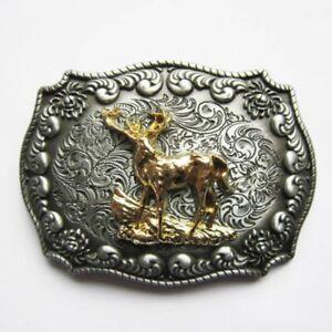 Buckle Hirsch, Jäger- Uniform, 24 Ct. Gold, Traditional Costume Belt, Belt