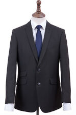 Men's Charcoal Grey Tailored Fit Suit Burtons