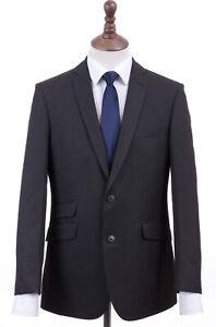 Men's Charcoal Grey Suit Tailored Fit Burtons