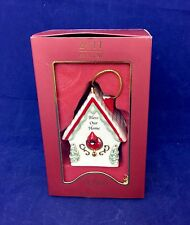 Lenox 2011 Bless Our Home BIRDHOUSE Ornament  *NEW in BOX*