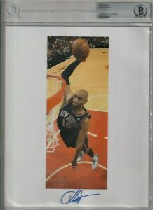 2020 VINCE CARTER LEAF AUTOGRAPHED SIGNED PHOTOGRAPH BECKETT SLABBED 8 X 10