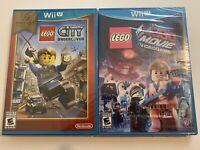 LEGO City Undercover & Lego Movie Nintendo Wii U Bundle - LOT OF 2 NEW SEALED