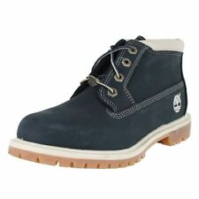 ORIGINAL TIMBERLAND NELLIE CHUKKA BOOT. MEDIUM BLUE NUBUCK, 8 UK, 41.5 EU, NEW