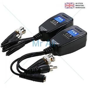 CCTV Passive Video Balun Power Audio HD-TVI/CVI/AHD/CVBS BNC to CAT5 RJ45