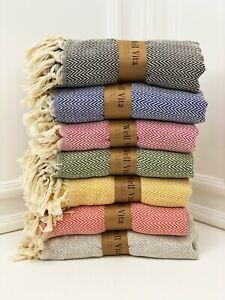 Turkish Towel Set 2 , Turkish Peshtemal, Beach Towel Set , Bath And Hand Towel,