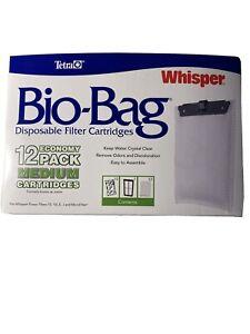 Tetra Whisper Bio-Bag Cartridge Unassembled Medium 12pk   (free Shipping