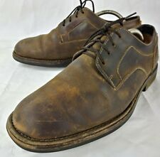 Timberland Mens Shoes Oxfords Smart US 9M Brown Leather Lace Work Waterproof 868