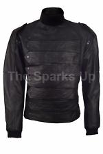 Captain America Invierno Soldado Bucky 2 en 1 estilo cuero chaqueta militar & Chaleco