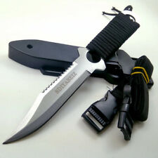 Military Fixed Blade Tactical Knife Hunting Outdoor Army Tool Rambo Combat Knife