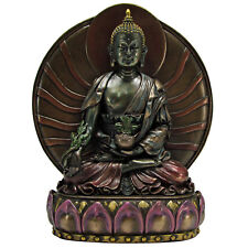 Medicine Buddha Statue - Cold Cast Resin - Buddhist Shakyamuni Icon Statuary