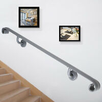 Two Step Stair Handrail for Stairs Two Step Handrail Iron Handrail Wall Mount