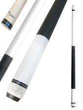 Champion ST6 White Pool Cue Stick-11.75mm Tip,Black Pool case, Cuetec Glove