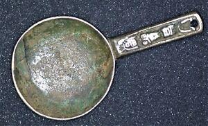 CHINA Amulet Charm Religious Object - SPOON SHAPE Buddha Very Heavy STRANGE