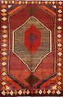 Vintage Tribal Geometric Gabbeh Oriental Area Rug Traditional Wool Handmade 4x5
