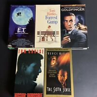 VHS Lot Of 5 Classic Films: ET, Forrest Gump, Goldfinger, Sixth Sense, And Mi...