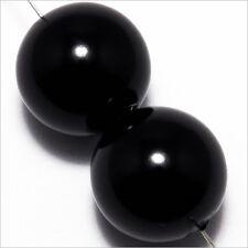 Lot de 10 perles Nacrées 16mm Noir en verre de Bohème