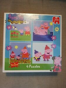 JUMBO ~ Peppa Pig 4-in-1 Jigsaw Puzzle Children's Bright Colours Quality Brand