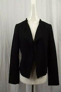 NEW Ann Taylor LOFT Womens Blazer Sz 4 Small Jacket Open Front NWT Black Tweed