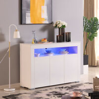 Storage Cabinet Sideboard Buffet Cupboard Console Table Kitchen Light-Control