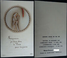OLD BLESSED GREAT DAYS OF MY LIFE HOLY CARD  YEAR 1959 ANDACHTSBILD       CC1657