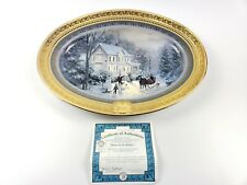 Thomas Kinkade Limited Edition 2002 Home For The Holidays Collector Platter 2440