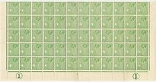 MALTA KG5 1926 HALFPENNY SG158 HALF SHEET of 60 stamps + 2 CONTROLS