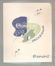 RMS Queen Mary Concert Programme 1957  CUNARD