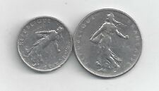 2 COINS from FRANCE - 1/2 & 1 FRANC (BOTH DATING 1965)