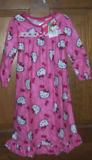 Hello Kitty Pink Long Flannel Granny Nightgown Toddler Girls Size 2T $30 NWT