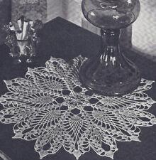 Vintage Crochet Pattern Pineapple Star Doily Motif
