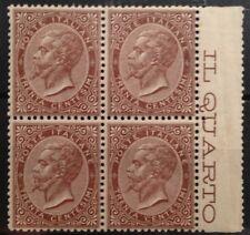 francobolli regno d'italia 1863 30 cent. quartina mnh** Londra , Lusso