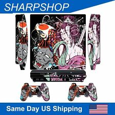 Sticker Protective Skin for PlayStation 3 Slim Console & Controller Decal Set