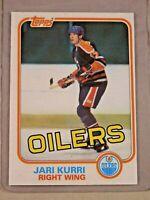 1981 TOPPS #18 JARI KURRI HOF RC ROOKIE CARD NM+