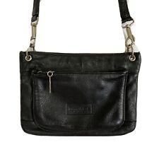 Kenneth Cole Womens Crossbody Black Leather Handbag Purse