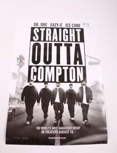 GFA Straight Outta Compton ICE CUBE Signed Movie Poster AD1 COA