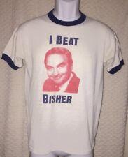 80's Vintage I Beat Bisher Atlanta Journal Ringer t-shirt size Xs/S, pre-owned