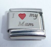 I LOVE MY MAM Italian Charm Red Heart - 9mm fits Classic Bracelets - Mother MUM