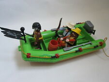 PLAYMOBIL 3042 Jungle river raft expedition - explorers with raft/dinghy & guide