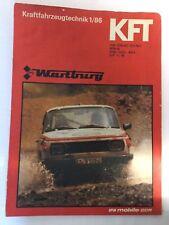Kraftfahrzeugtechnik KFT 01/1986 Wartburg Sport Rallye Ostalgie Alt DDR Geschenk