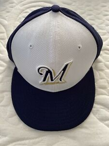 new era 59 fifty 7 3/8 Milwaukee Brewers Fitted Pro Hat