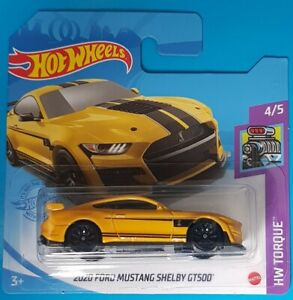 Hot Wheels 2020 Ford Mustang Shelby GT500 248/250 HW Torque 4/5 Yellow 2021