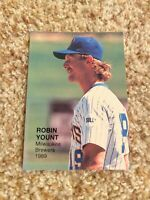 Robin Yount Brewers 1989 Baseball's Top Twenty Series 1 RARE UNLICENSED CARD #20