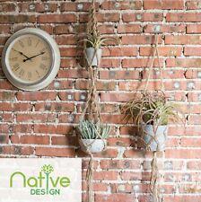 Native Design Plant Hanger Flower Pot Holder Hanging Jute Rope Wall Art Garden